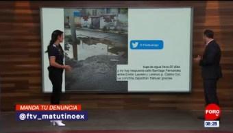#LaCámaraUrbana en Expreso: Fuga de agua en CDMX