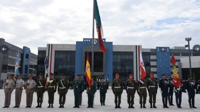 Foto: El Colegio de Ingenieros de la Sedena fueron recibidas delegaciones de la Policía Nacional de Argentina, Carabineros de Chile, la Guardia Civil de España, la Gendarmería de Polonia y la Guardia Nacional Republicana de Portugal, 9 de septiembre de 2019 (Twitter @SEDENAmx)