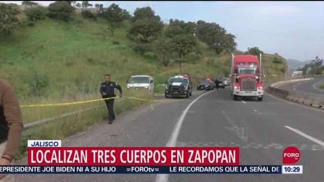 FOTO: Localizan tres cuerpos envueltos en Zapopan, Jalisco, 29 septiembre 2019