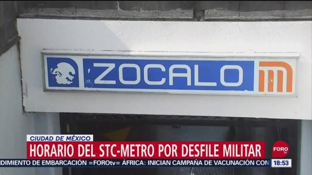 FOTO: Horarios Metro Para 15 16 Septiembre 2019
