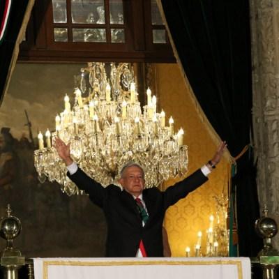 AMLO dio su primer Grito de Independencia, con arenga de 98 segundos, la más larga