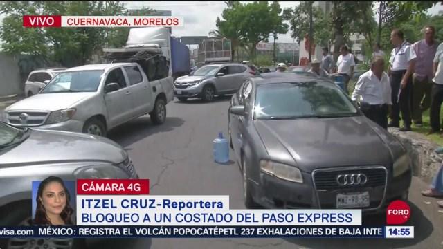 FOTO: Manifestantes Bloquean Paso Express Morelos