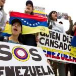 Opositores al régimen de Nicolás Maduro