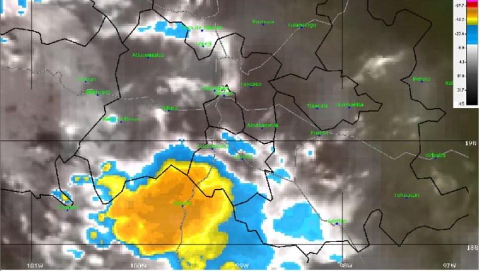 Foto: La imagen de satélite muestra cielo nublado en el centro del país, 8 septiembre 2019