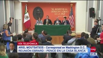 Marcelo Ebrard rindió avances para contener migración indocumentada