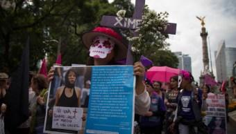 Marcha contra feminicidios en CDMX.