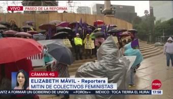 FOTO: Marcha Colectivos Feministas Llega Ángel Independencia