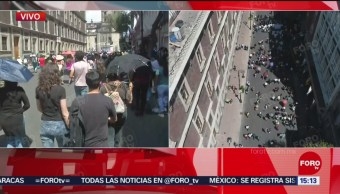 FOTO: Marcha del silencio contra feminicidios llega al Zócalo, 8 septiembre 2019