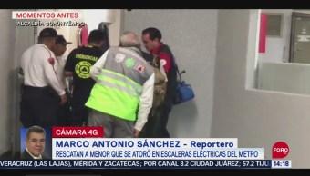 Foto: Menor Accidente Escaleras Eléctricas Metro Bellas Artes 24 Septiembre 2019