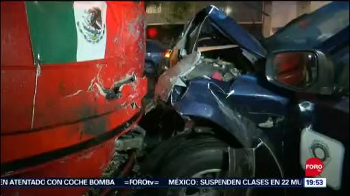 Foto: Metrobús Choca Contra Patrulla Vehículos Cdmx Hoy 19 Septiembre 2019