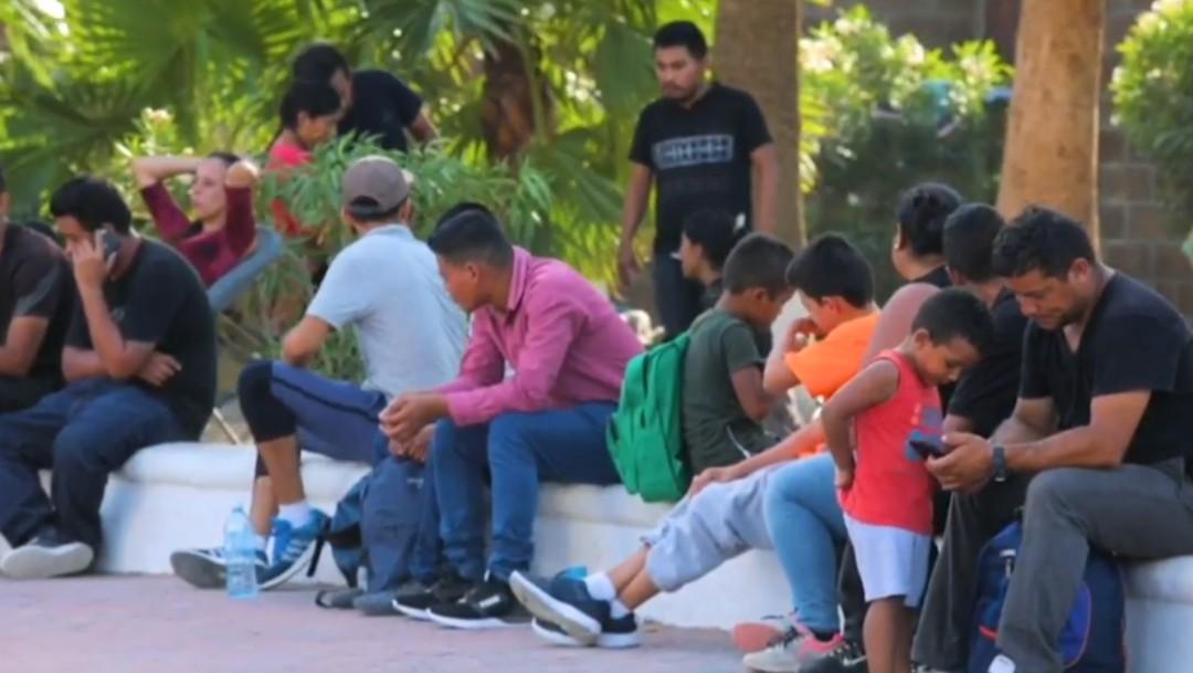 Foto: Migrantes centroamericanos en México