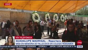 Misa recuerda a víctimas del sismo 19S en Colegio Rébsamen