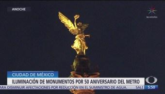 Monumentos de Paseo de la Reforma se iluminan de naranja