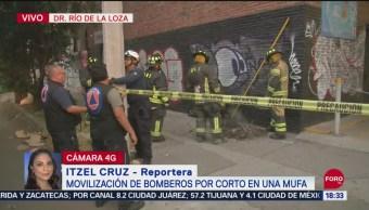 FOTO: Movilización Bomberos Por Corto Mufa Río De La Loza