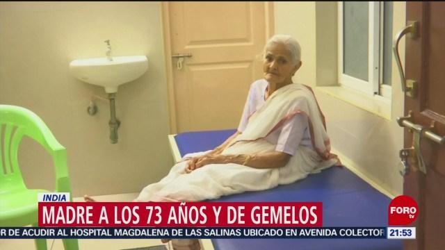 Foto: Mujer 73 Años Da A Luz Gemelas India 6 Septiembre 2019
