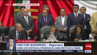 Foto: Muñoz Ledo Retira Presidencia Mesa Directiva San Lázaro 3 Septiembre 2019