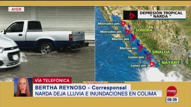 FOTO: Narda deja lluvias inundaciones Colima,