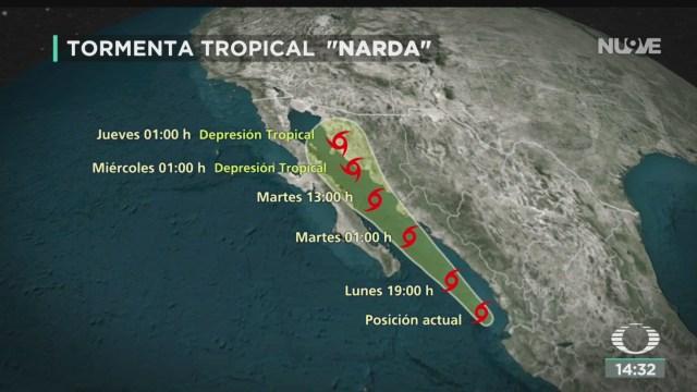 FOTO: 'Narda' se intensifica a tormenta tropical, 30 septiembre 2019