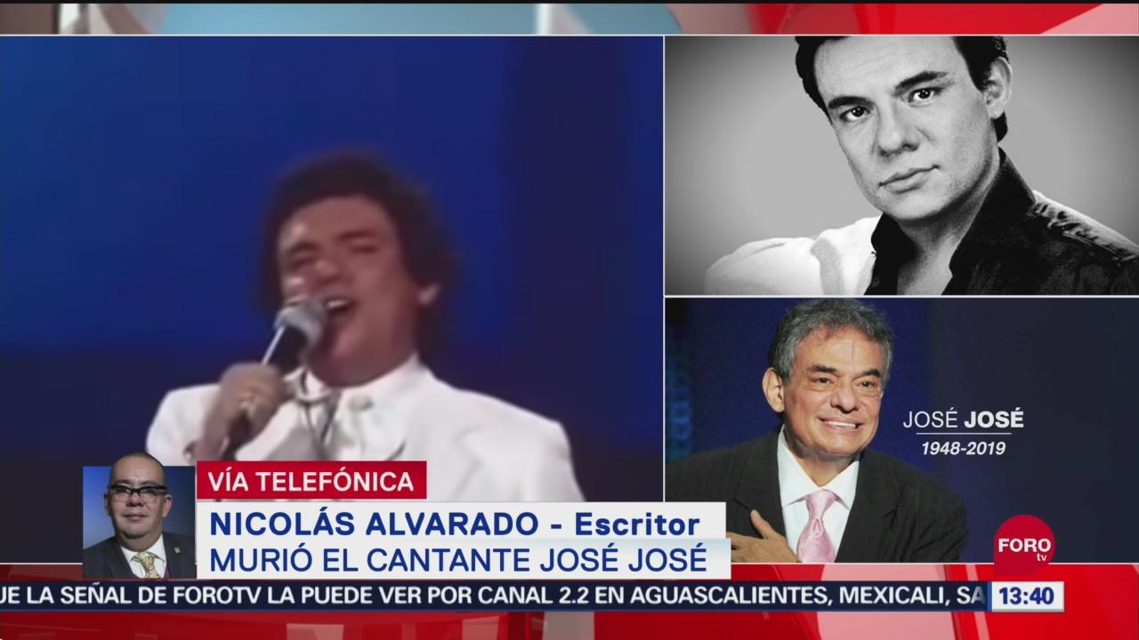 FOTO: Nicolás Alvarado describe como era el cantante José José, 28 septiembre 2019