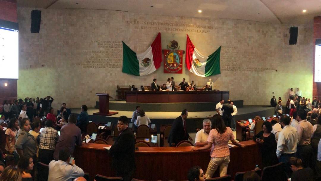 Foto: Sesión Ordinaria de la LXIVLegislatura del Estado de Oaxaca donde se aprobó el aborto, el 25 de septiembre de 2019 (Twitter @CongresoOaxLXIV)