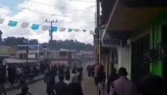 Se enfrentan pobladores de Oxchuc, Chiapas, por diferencias políticas