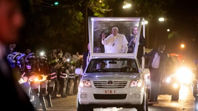 Foto: Papa Francisco en papamóvil, 4 de septiembre de 2019, Mozambique
