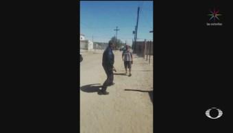 Foto: Policía Mata Hombre Atacó Cuchillo Sonora 20 Septiembre 2019