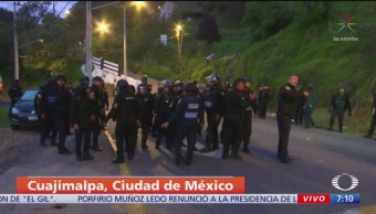 Policía rescata a presunto ladrón de intento de linchamiento en Cuajimalpa