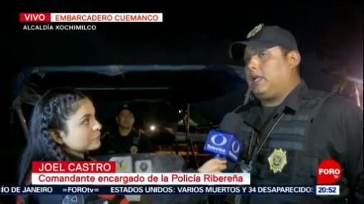Foto: Policía Ribereña Estrategia Seguridad Xochimilco 2 Septiembre 2019