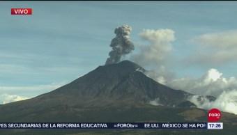 FOTO: Popocatépetl Lanza Fumarola, 19 de septiembre de 2019