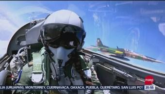 Foto: Primera Mexicana Volar Avión F-5 Desfile Cdmx 12 Septiembre 2019
