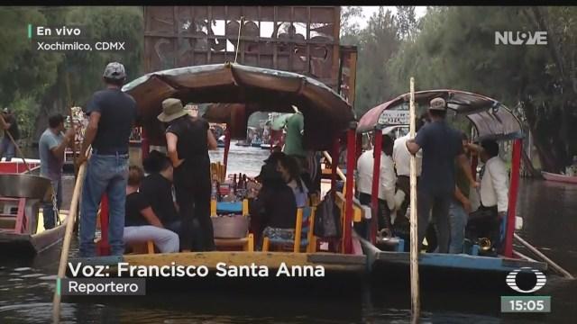 FOTO: Promueven campaña Menos alcohol Más diversión trajineras Xochimilco