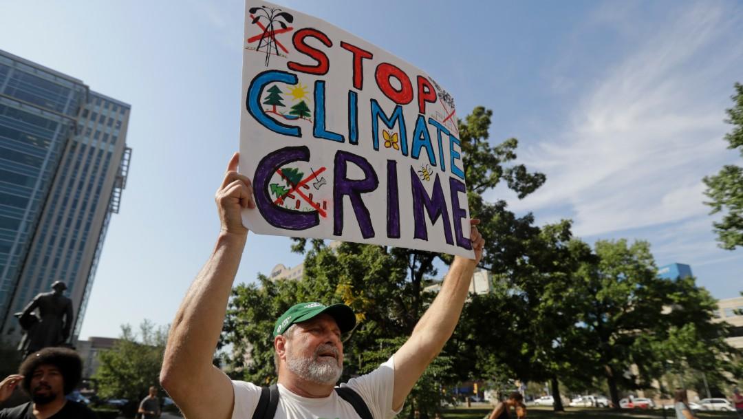 Foto: Protesta contra cambio climático, 20 de septiembre de 2019, Estados Unidos