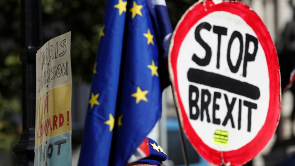 Foto: Protestas contra el Brexit en Londres, 2 de septiembre de 2019, Reino Unido