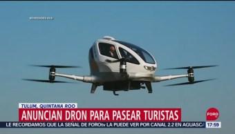 FOTO: Quintana Roo Lanzará Primer Dron Para Pasear Turistas
