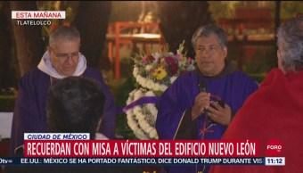 Recuerdan con misa a víctimas del sismo de 1985