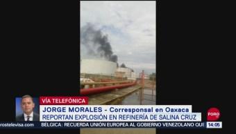 FOTO: Explosión Refinería Salina Cruz Oaxaca