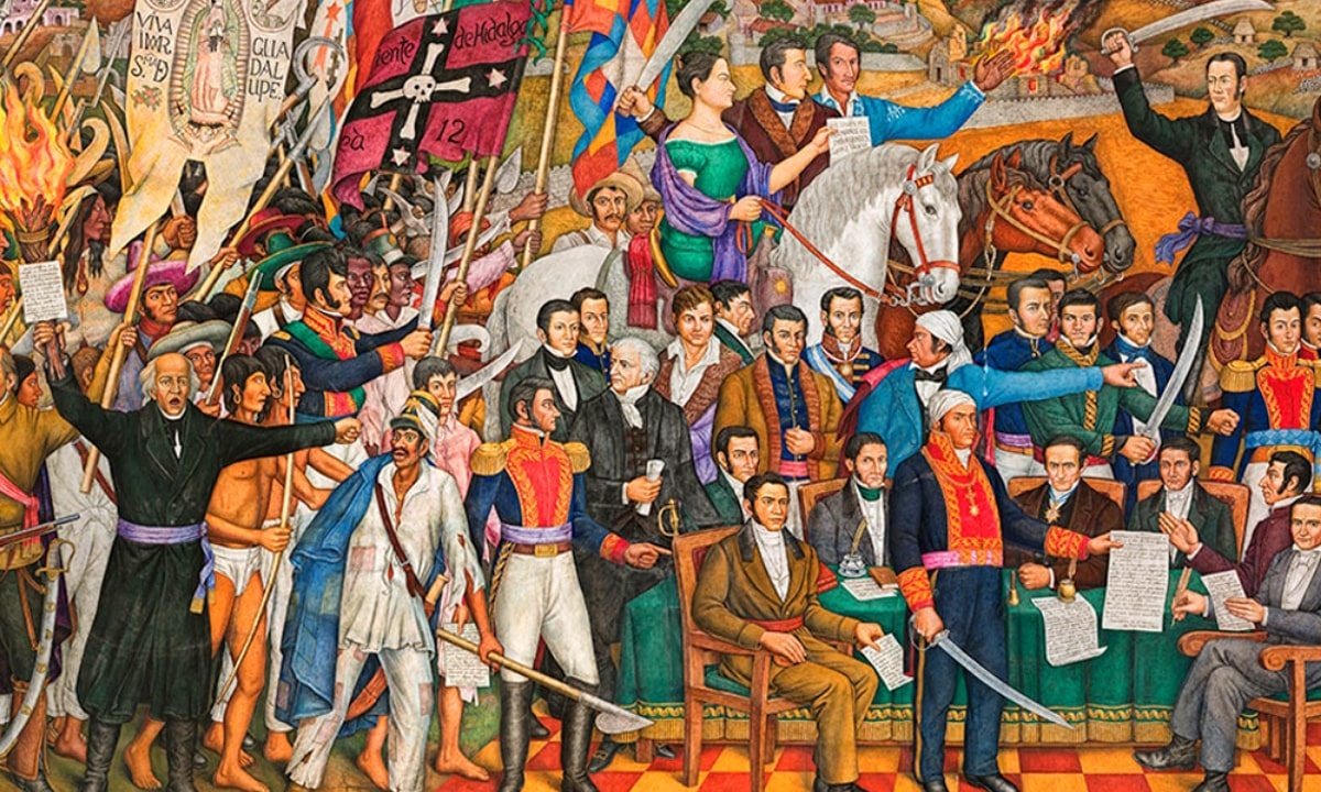 Foto:Retablo de la Independencia, Juan O`Gorman. (MNH/INAH).