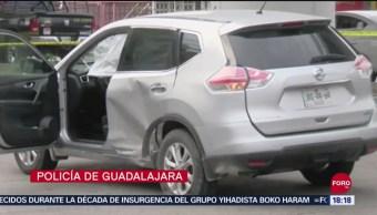 FOTO: Robo Camioneta Termina Persecución Jalisco