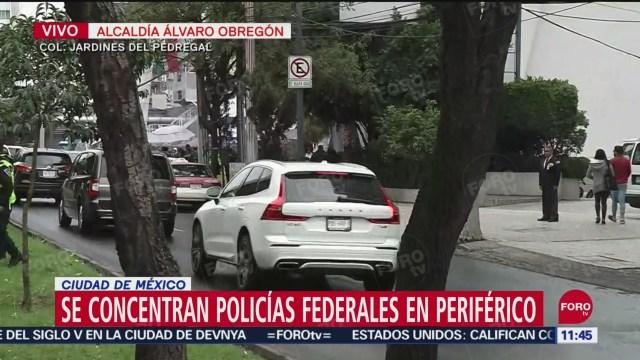 FOTO:Se concentran policías federales en Periférico, al sur de la CDMX, 30 septiembre 2019
