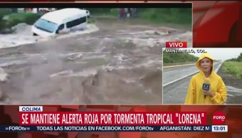 FOTO: Se Mantienen Alerta Roja Colima Por Lorena