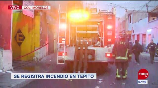Se reactiva incendio en tienda de conveniencia en Tepito