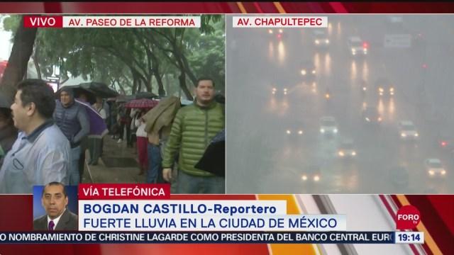 FOTO: Se registra fuerte lluvia en el Centro de CDMX, 17 septiembre 2019