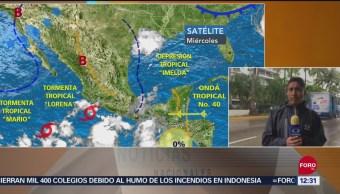 Se registra lluvia constante y oleaje elevado por 'Lorena' en Acapulco