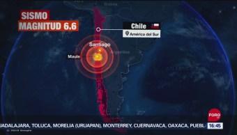 FOTO: Se registra sismo de magnitud 6.6 en Chile, 29 septiembre 2019