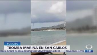 Se registra tromba en Bahía de San Carlos, Sonora