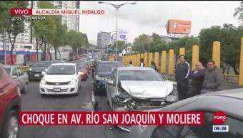 Severa afectación por choque en la Miguel Hidalgo