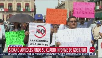 Foto: Silvano Aureoles Rinde Informe Medio Reclamos 25 Septiembre 2019