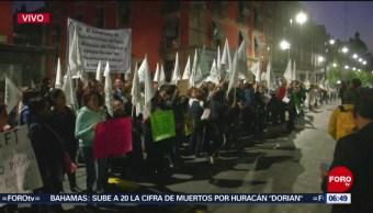Sindicato de telefonistas se manifiestan el Zócalo capitalino