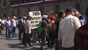 Foto: Protesta Sindicato de Electricistas de México, 27 de septiembre de 2019, Ciudad de México
